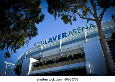 MELBOURNE, AUSTRALIA - JANUARY 22:  The Rod Laver Arena which holds the center court at the Australian Open, January 22, 2011 in Melbourne, Australia
