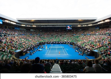 MELBOURNE, AUSTRALIA - JANUARY 23 : Ambiance at the 2016 Australian Open inside Rod Laver Arena