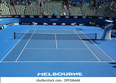 MELBOURNE, AUSTRALIA - JANUARY 25, 2016: Show court 2 during Australian Open 2016 match at Australian tennis center in Melbourne Park.