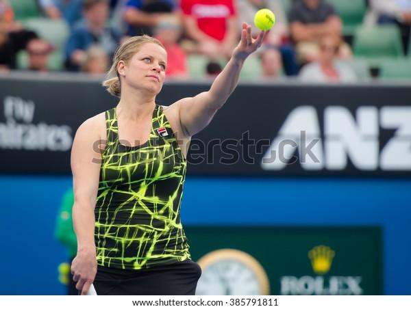 Melbourne Australia January 25 Tennis Legend Stock Photo