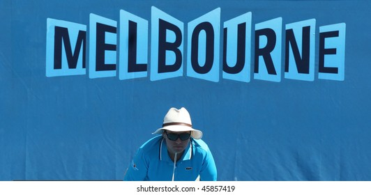 MELBOURNE, AUSTRALIA - JANUARY 26: Linesman at the 2010 Australian Open on January 26, 2010 in Melbourne, Australia