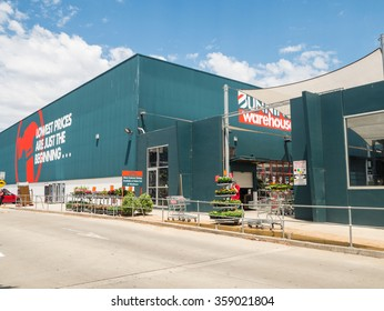 Melbourne, Australia - January 3, 2016: Bunnings Warehouse is Australia's largest household hardware chain. Owned by Wesfarmers Limited it operates 280 stores in Australia and New Zealand.