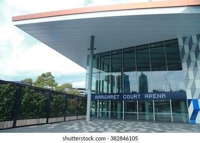 MELBOURNE, AUSTRALIA - JANUARY 30, 2016: Margaret Court arena at Australian tennis center in Melbourne Park.