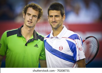 MELBOURNE, AUSTRALIA - JANUARY 30: Australian Open Men's Final, Andy Murray(GBR)[5] who was defeated by Novak Djokovic(SRB)[3] on January 30, 2011 in Melbourne, Australia