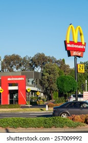 MELBOURNE, AUSTRALIA - January 4, 2015: McDonald's, or affectionately Macca's, opened its first Australia restaurant in 1971. Today there are over 900 including this one in Nunawading.