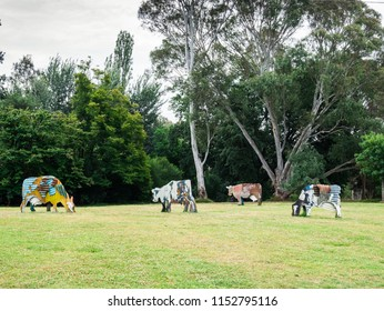 Melbourne, Australia - January 7, 2018: Heide Museum of Modern Art is a public museum in suburban Bulleen. The museum is surrounded by a sculpture park.
