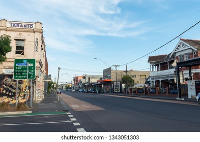 Melbourne, Australia - January 7, 2019: Johnston Street is a main road running through Abbotsford in the City of Yarra.