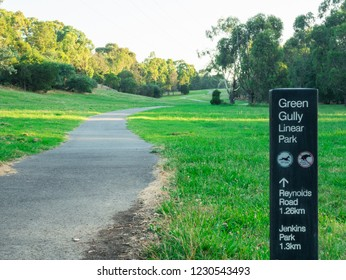 Melbourne, Australia - January 9, 2017: Green Gully Linear Park in Templestowe in the north-eastern suburbs of Melbourne, Australia.