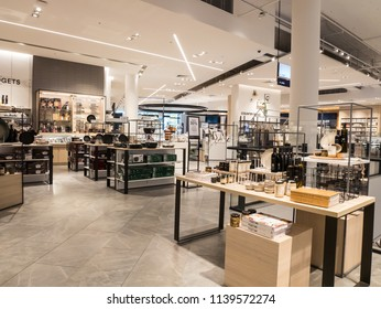 Melbourne, Australia - July 21, 2018: homewares department at David Jones department store at Eastland Shopping Centre in outer suburban Ringwood.