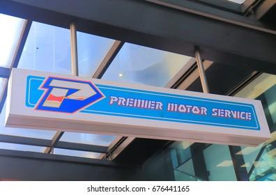 MELBOURNE AUSTRALIA - JULY 3, 2017: Premier motor service. Premier motor service is one of the major long distance coach companies in Australia.