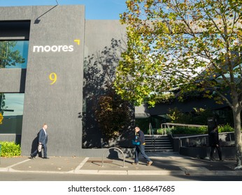 Melbourne, Australia - June 1, 2016: Moores is an Australian law firm practising based on a value pricing model. This is its Box Hill office, where it operated until October 2016.