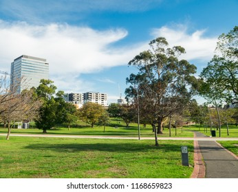 Melbourne, Australia - June 1, 2016: Box Hill Gardens is a large suburban park in Box Hill in the eastern suburban City of Whitehorse.