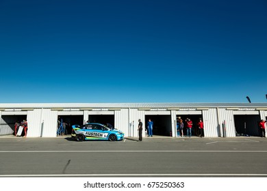 MELBOURNE, AUSTRALIA  JUNE 10: Life in Pit Lane during the 2017 Shannon's Nationals, Round 3 - Winton, Australia on June 10 2017.