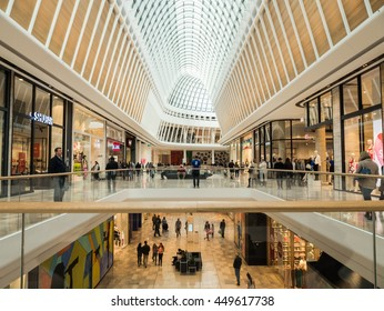Melbourne, Australia - June 26, 2016: Eastland shopping centre in Ringwood in Melbourne's eastern suburbs was heavily refurbished in 2016.