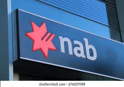 MELBOURNE AUSTRALIA - JUNE 30, 2017: National Australia Bank NAB. NAB is one of the four largest bank in Australia and 17th in the world.