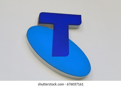 MELBOURNE AUSTRALIA - JUNE 30, 2017: Telstra store sign. Telstra is the largest telecommunications and media company in Australia.