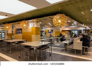 Melbourne, Australia - June 7, 2019: cafeteria of the Royal Melbourne Hospital, a large public hospital in Parkville.