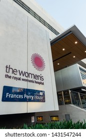 Melbourne, Australia - June 7, 2019: The Royal Women's Hospital is a specialist maternity, gynaecology, neonatal and women's health hospital. It is colocated with the private Frances Perry House.