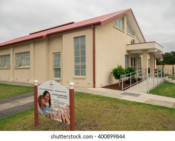 Melbourne, Australia - March 13, 2016: Springvale Seventh-Day Adventist Church on Balmoral Avenue in the outer suburb of Springvale.