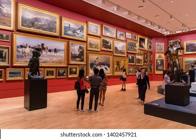 Melbourne, Australia - March 17, 2018: sculptures by English artist Jonathan Owen in the John Schaeffer Gallery at the National Gallery of Victoria during the 2017 Triennial.