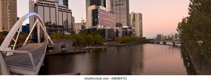 "Melbourne, Australia. March ""2017"" - View of Melbourne South Bank"