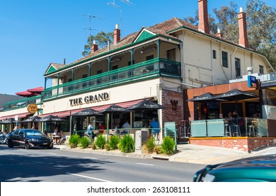 MELBOURNE, AUSTRALIA - March 22, 2015: the Grand Hotel in Warrandyte was constructed in 1895.
