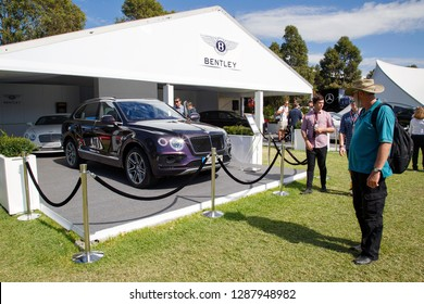 Melbourne, Australia: March 25, 2017: Bentley Bentayga luxury SUV car front view. The Bentley Bentayga is a luxury crossover with a W12 engine and full-time all-wheel drive.