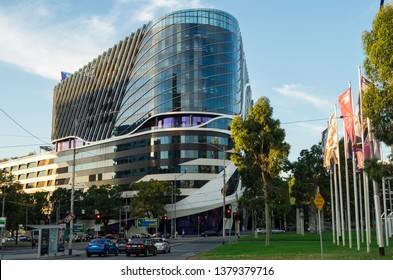 Melbourne, Australia: March 7, 2019: The Victorian Comprehensive Cancer Centre is a multi-site, multi-disciplinary specialist cancer hospital and research centre located in Melbourne, Victoria.