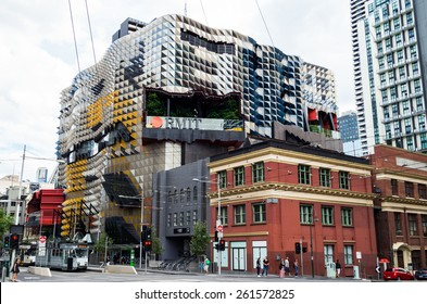 MELBOURNE, AUSTRALIA - March 9, 2015: RMIT University (officially the Royal Melbourne Institute of Technology) is an Australian university of technology and design based in Melbourne.