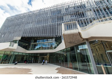 MELBOURNE, AUSTRALIA - March 9, 2015: the Melbourne School of Design at the University of Melbourne was launched on 11 December 2014 and opened for teaching on March 2, 2015. It is a 6 star building.