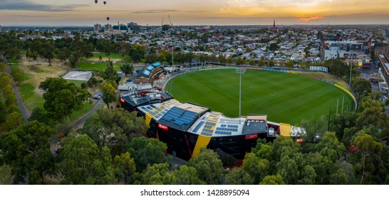 Melbourne Australia March 9th 2019 : Overhead view of the Punt road Oval, home of the Australian Rules football club the Richmond Tigers