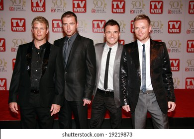 MELBOURNE, AUSTRALIA - MAY 04 2008: Westlife members Nicky Byrne, Kian Egan, Mark Feehily and Shane Filan arrive on the red carpet at the 50th Annual TV Week Logie Awards at the Crown Towers Hotel