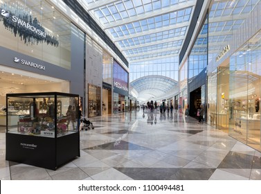 Melbourne, Australia - May 20, 2018: Pacific Werribee is a major regional shopping centre, located in Hoppers Crossing, south-west of the Melbourne Central Business District in Victoria.