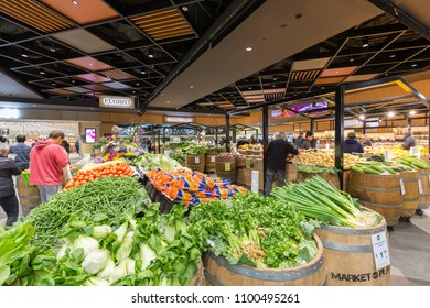 Melbourne, Australia - May 20, 2018: Vegetables grocery shop is a major regional shopping centre, located in Hoppers Crossing, Australia.
