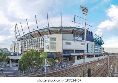 MELBOURNE, AUSTRALIA - MAY 31, 2014: The Melbourne Cricket Ground in Victoria, Australia. The MCG is the largest sports stadium in Australia.