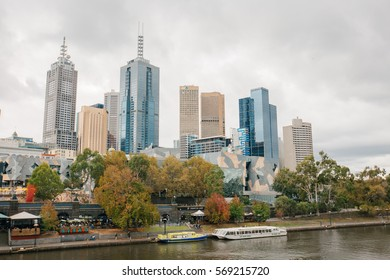 MELBOURNE, AUSTRALIA - MAY 8 2016: Melbourne cityscape  in the afternoon