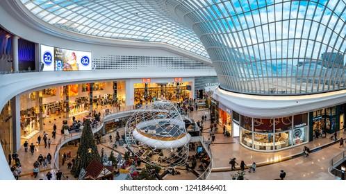 Melbourne, Australia - Nov 24, 2018: Christmas decorations in Chadstone shopping centre