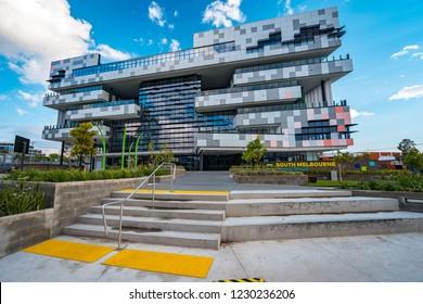 Melbourne, Australia - Nov 6, 2018: Brand new primary school in South Melbourne