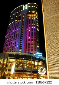 MELBOURNE, AUSTRALIA - NOVEMBER 14: The Crown Casino and Entertainment Complex along the Yarra Promenade on November 14, 2005 in Melbourne, Australia.  The Crown Casino opened for business in 1994.