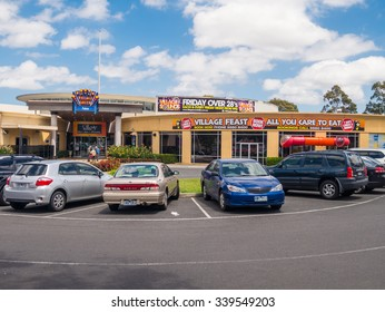 Melbourne, Australia - November 15, 2015: the Village Green Hotel in Glen Waverley has a restaurant, bar, poker machines and function rooms.