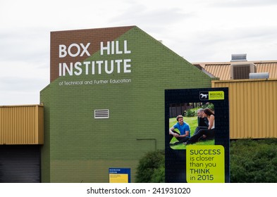 MELBOURNE, AUSTRALIA - November 20, 2014: Box Hill Institute of Technical and Further Education is a vocational and higher education provider in Australia and internationally.