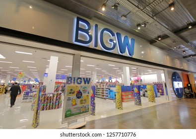 MELBOURNE AUSTRALIA - NOVEMBER 28, 2018: Unidentified people shop at BIG W store in Melbourne Australia. BIG W is a chain of discount stores in Australia and is the leading Australian department store