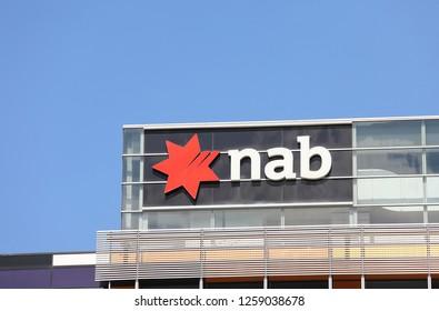 MELBOURNE AUSTRALIA - NOVEMBER 30, 2018: NAB bank Australia