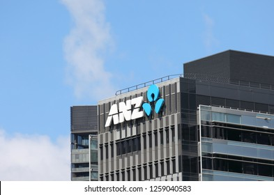 MELBOURNE AUSTRALIA - NOVEMBER 30, 2018: Australia and New Zealand Bank ANZ. ANZ is one of the four largest bank in Australia and the largest in New Zealand.