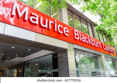 Melbourne, Australia - November 4, 2014: Maurice Blackburn Lawyers is a law firm known for its class action and personal injury litigation.
