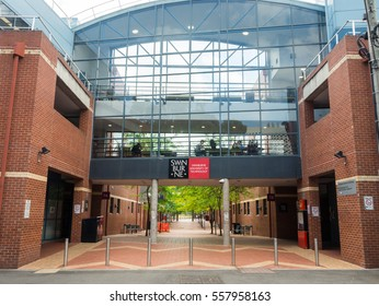 Melbourne, Australia - November 9, 2016: Swinburne University was founded in 1908 and today has an enrolment of 23,500 students. This is the Hawthorn campus.