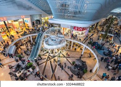 Melbourne, Australia - Oct 22, 2016: New wing of the Chadstone shopping centre, the largest shopping centre in Australia