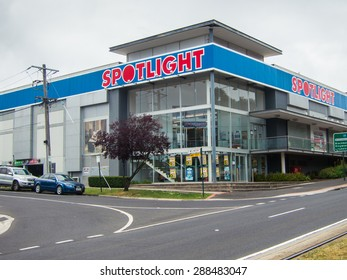 Melbourne, Australia - October 10, 2014: Spotlight is an Australian chain of fabric, homewares, curtain, sewing and party supplies stores. This large store is in suburban Box Hill.
