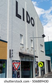 Melbourne, Australia - October 27, 2016: the Lido Cinema on Glenferrie Road in Hawthorn is a multi-screen cinema complex showing both mainstream and arthouse movies.