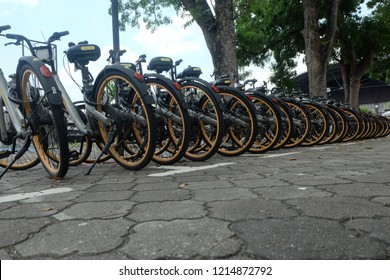 """""""Melbourne, Australia- October 5,2018: Obike a bike sharing company will cease its operation this year. It is because of high operation cost the company need to bare."""""""